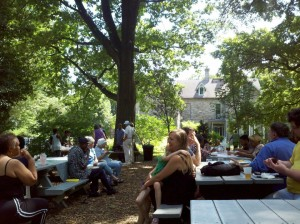 """Neighbor Bring a Neighbor"" picnic with the Awbury Neighbors Association"