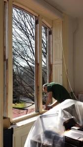WMG Historic Restoration works on the Cope House 2nd floor windows