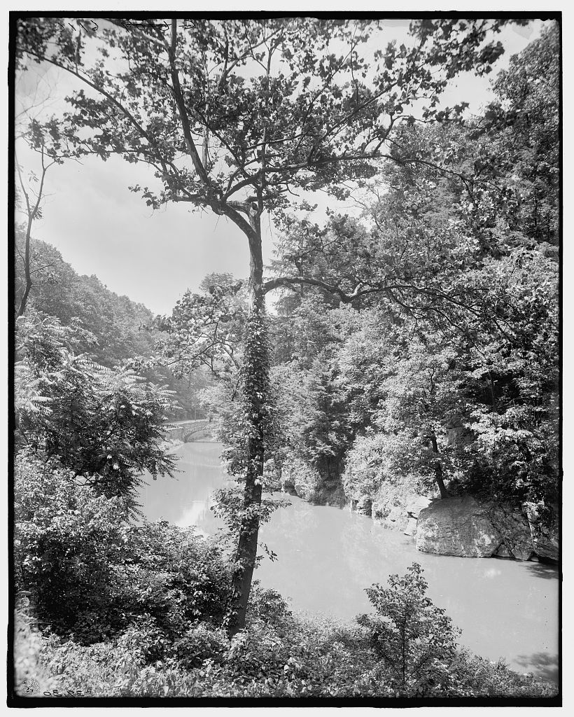 View of the Wissahickon, circa 1900, Library of Congress