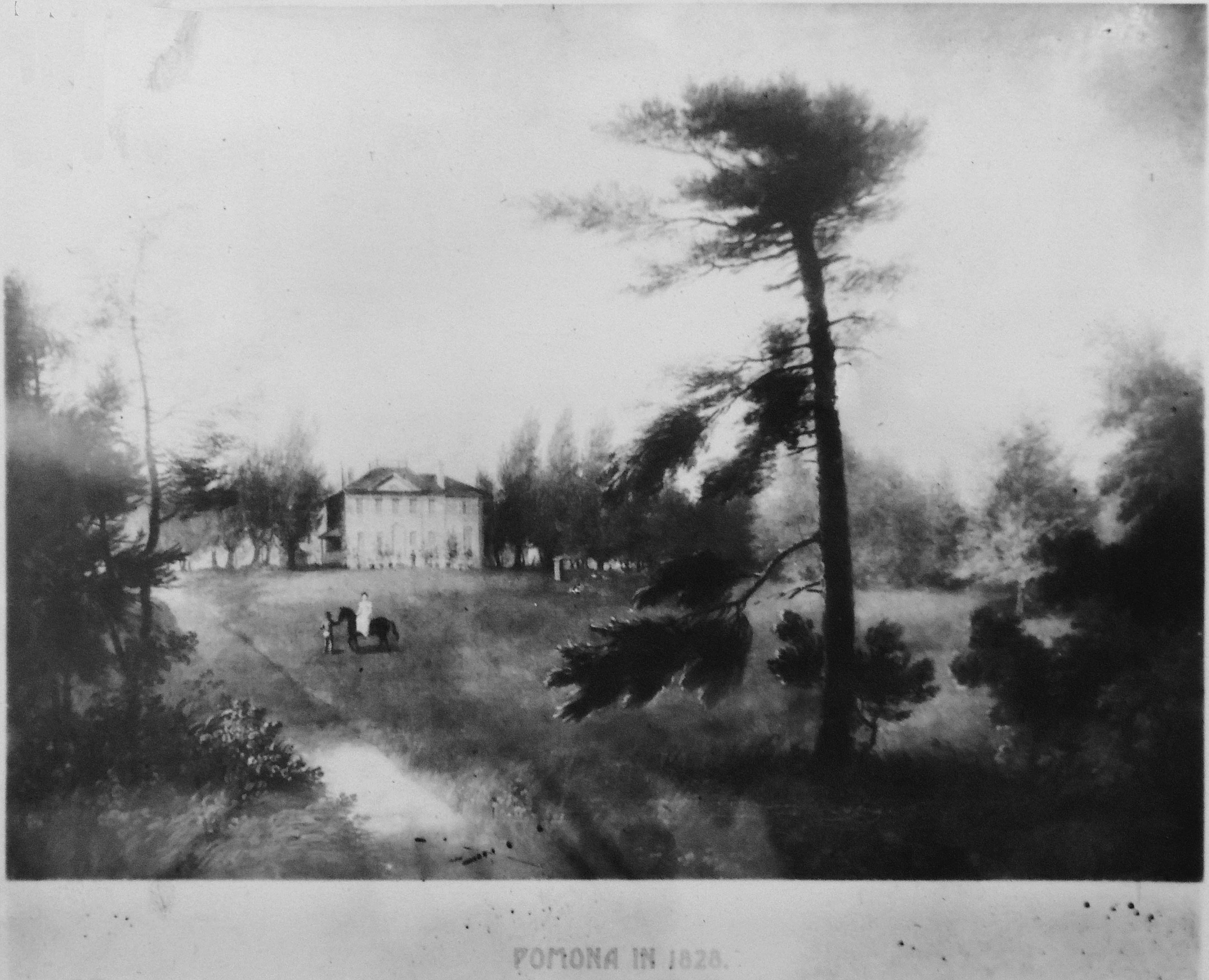 A copy of a painting of Pomona Grove as it appeared in 1928, Germantown Historical Society