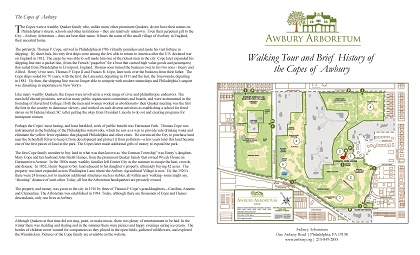 Awbury Arboretum Historic Walking Tour