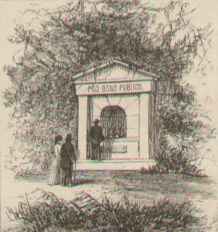"The ""Pro Bono Publico Fountain""; 1873 illustration"