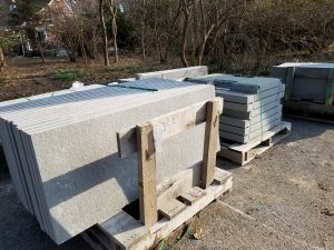 Bluestone waiting to be installed