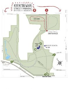 Adventurewoods Parking and Entrance Map - thumbnail