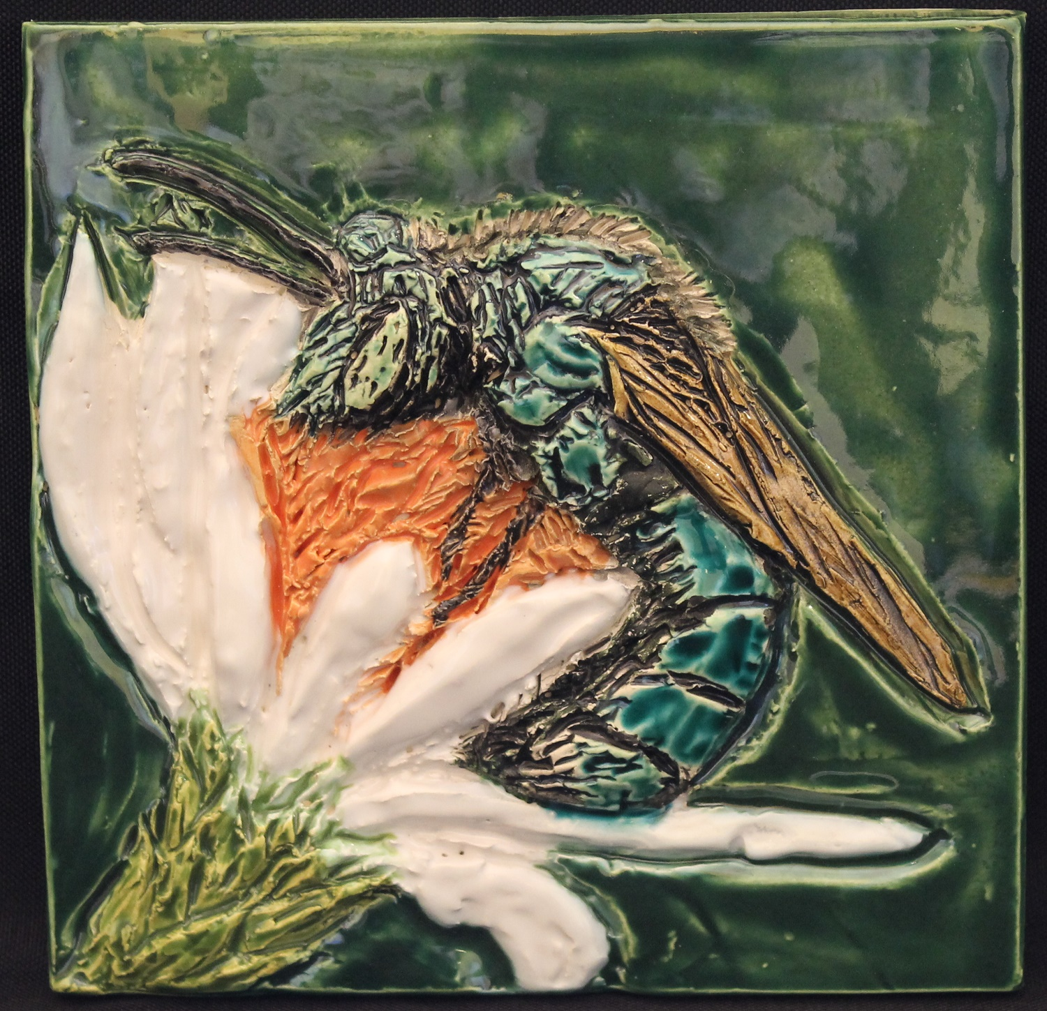 Sweat Bee tile - Karen Singer