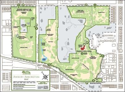 Awbury Arboretum Map